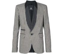 striped shawl collar blazer