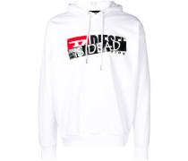 'Is dead' print hoodie