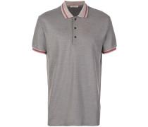Pikee-Poloshirt mit gestreiftem Kragen