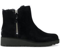zipped short boots
