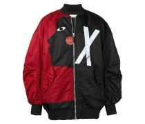 contrast bomber jacket