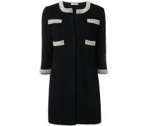 pearl embellished coat
