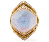 Kleiner 18kt 'Crystal Haze' Ring aus Weißgold