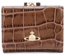 croco embossed wallet