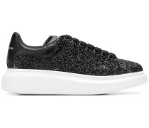Platform-Sneakers mit Glitter