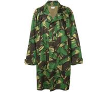 Midimantel mit Camouflage-Print