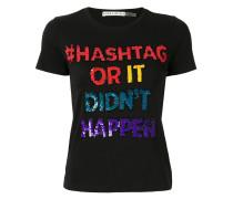 'Hashtag' T-Shirt mit Pailletten
