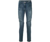 Biker-Jeans mit schmalem Schnitt