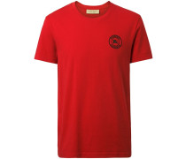 T-Shirt mit Logo-Stickerei