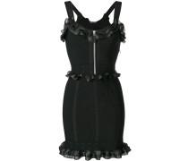 Jacquard-Kleid mit Rüschenborten