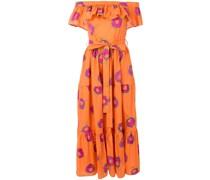Schulterfreies Kleid mit Print