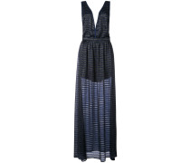 lurex stripe gown
