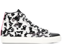 High-Top-Sneakers mit Pailletten