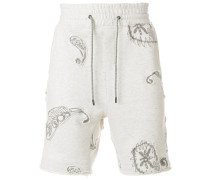 embroidered applique shorts
