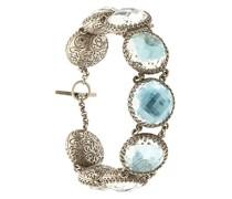 'Olivia Sky Foil Button' Armband