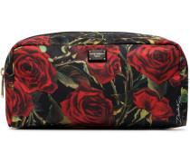 Kosmetiktasche mit Rose-Print