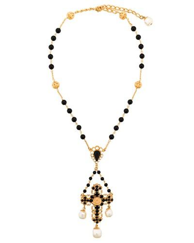 beaded crucifix necklace