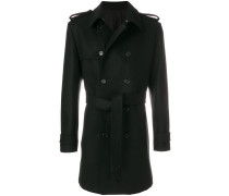 belted double breasted coat