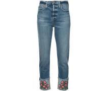 Verzierte 'Big Blooms' Jeans