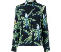 Seidenhemd mit tropischem Print