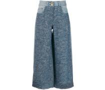 Tweed-Hose im Cropped-Design