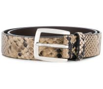 snake skin effect belt