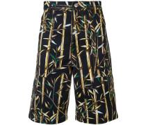 Bermuda-Shorts mit Bambus-Print