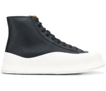 High-Top-Sneakers mit Kontrastsohle