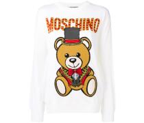 Intarsien-Pullover mit Zirkusbärenmotiv