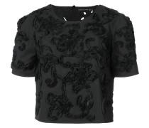 T-Shirt mit applizierten Blumen