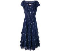 Kleid mit Metallic-Sternen