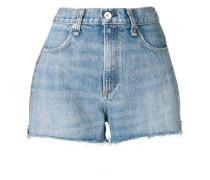 Jeansshorts mit Reißverschlussdetail