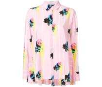 floral stripe trapeze shirt