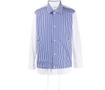 contrast layered shirt