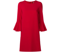 ruffled sleeve round neck shift dress
