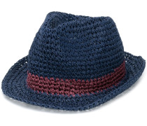 Gewebter Hut mit Kontraststreifen