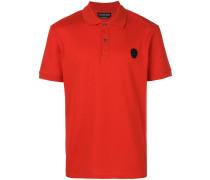 Poloshirt mit Totenkopf-Patch