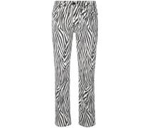 Jeans mit Zebra-Print