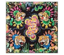 Seidenschal mit Tiger-Print