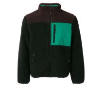 zipped shearling jacket