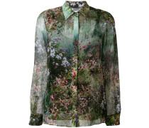 Seidenhemd mit botanischem Print