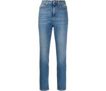 Skinny-Jeans mit Logo-Print