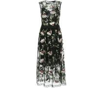 sheer floral print dress