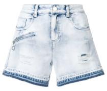 Jeans-Shorts mit ausgeblichenem Effekt