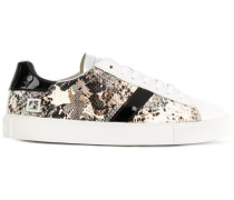 D.A.T.E. Camouflage-Sneakers in Pythonleder-Optik