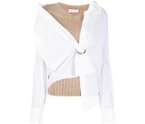 shrobe shirt overlayed knitted top