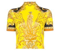 Cropped-T-Shirt mit barockem Print