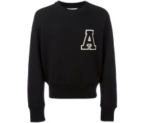 """Sweatshirt mit """"A""""-Patch"""