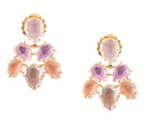 Caterina Pansy Rose Fawn earrings
