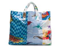 cartoon printed tote bag